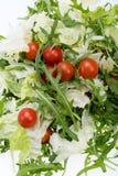 Ruccola, φύλλα μαρουλιού και ντομάτες κερασιών Στοκ Εικόνα