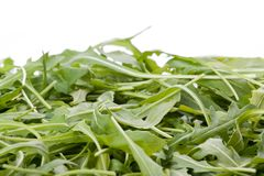 Ruccola salad fresh heap leaf Royalty Free Stock Photos