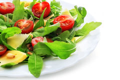 Ruccola salad, isolated Stock Image