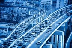 Ruchów drogowych dżemów zbliżenie Fotografia Stock