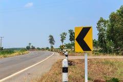 Ruchów drogowych singnals na wiejskiej drodze Tajlandia Zdjęcie Royalty Free