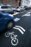 Ruchów drogowych znaki na drodze Zdjęcie Stock