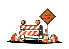 Ruchów drogowych znaki ostrzegawczy Zdjęcia Stock