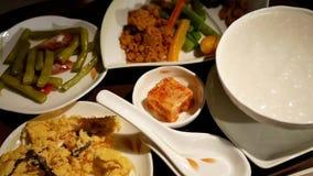 Ruch Chiński śniadanie na stole dla klasa business pasażera zbiory
