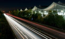 Ruch drogowy długi ujawnienie obrazy stock