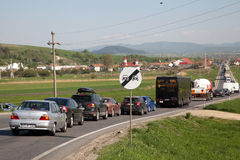 Ruch drogowy dżem fotografia stock