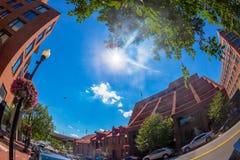Ruch drogowy i architektura w Georgetown, washington dc obrazy stock