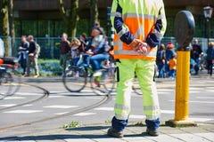 Ruch drogowy kontrola kierownika dopatrywania rozkaz obrazy royalty free