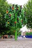 ruch drogowy lekki drzewo Fotografia Royalty Free