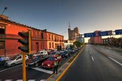 Ruch drogowy linia w Lima Peru obrazy stock