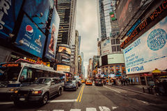 Ruch drogowy Manhattan, Miasto Nowy Jork Zdjęcia Stock