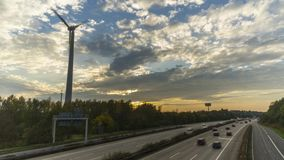 Ruch drogowy na autobahn A2 w Hannover Timelapse zbiory wideo