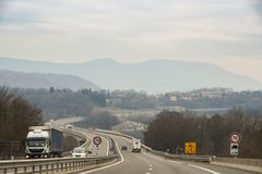 Ruch drogowy na autostradzie Obrazy Royalty Free