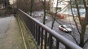 Ruch drogowy na drodze zdjęcie wideo