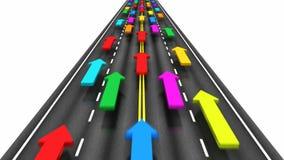 Ruch drogowy na drodze ilustracji