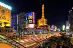 Ruch drogowy na Las Vegas pasku Obrazy Stock