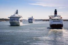 Ruch drogowy na morzu fotografia royalty free