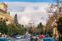 Ruch drogowy na ulicach Baku zdjęcia royalty free