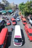 Ruch drogowy na Wichayanon drodze Blisko Kad Luang Obrazy Royalty Free
