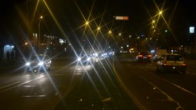Ruch drogowy podczas nocy zbiory