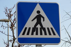Ruch drogowy podpisuje wewnątrz szczegół dla penestrians Zdjęcie Stock