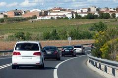 Ruch drogowy przy Autostradą Zdjęcie Royalty Free