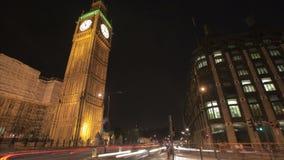 Ruch drogowy przy Big Ben zbiory wideo