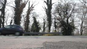 Ruch drogowy przy drogą zdjęcie wideo