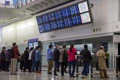Ruch drogowy przy lotniskowym terminal Obraz Stock