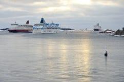 Ruch drogowy przy morzem Obrazy Royalty Free