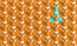 Ruch drogowy rożki Fotografia Royalty Free