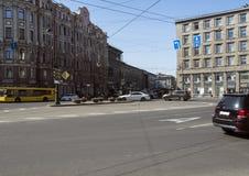 Ruch drogowy w centrum miasta Obrazy Royalty Free