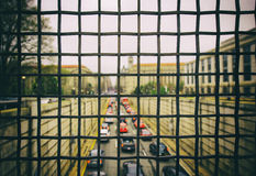 Ruch drogowy w d C Obrazy Stock