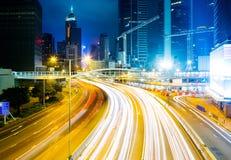 Ruch drogowy w Hong Kong mieście Obraz Royalty Free