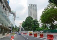 Ruch drogowy w Singapur Zdjęcia Stock