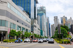Ruch drogowy w Singapur Fotografia Royalty Free