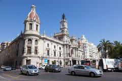 Ruch drogowy w Walencja, Hiszpania Fotografia Royalty Free