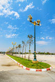 Ruch drogowy wyspa w Chiang mai, Tajlandia Fotografia Royalty Free