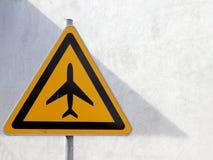 Ruch drogowy znak, lotnisko Obrazy Royalty Free