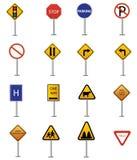 Ruch drogowy znaka kolekcja ilustracja wektor
