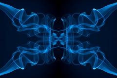 Ruch dym, Abstrakcjonistyczny Bławy dym na czarnym tle Obrazy Royalty Free