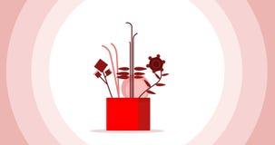 Ruch grafika kwiaty które symbolizują miłości i wrażliwości zdjęcie wideo