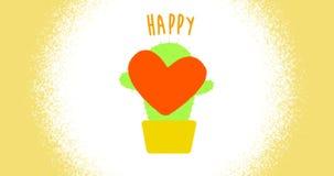 Ruch grafika kwiaty które symbolizują miłości i wrażliwości zbiory wideo