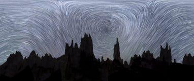 Ruch gwiazdy w niebie fotografia royalty free
