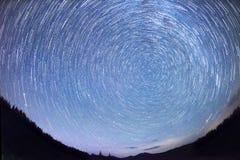 Ruch gwiazdy w niebie zdjęcie stock