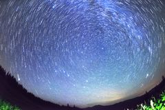 Ruch gwiazdy w niebie fotografia stock