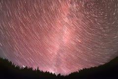 Ruch gwiazdy w niebie zdjęcie royalty free