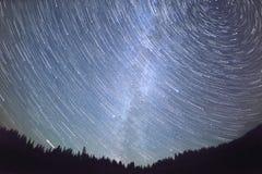 Ruch gwiazdy w niebie obraz stock