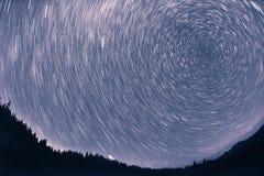 Ruch gwiazdy w niebie zdjęcia stock
