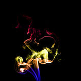 Ruch kolorowy dym Zdjęcie Royalty Free